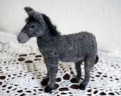 Needle Felted Donkey, Nativity Set, Burro, Nativity Animal, Christmas Creche, Farm Animal