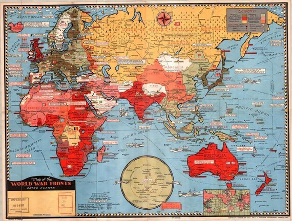 1943 map of the british empire poster a3a2 print gumiabroncs Choice Image