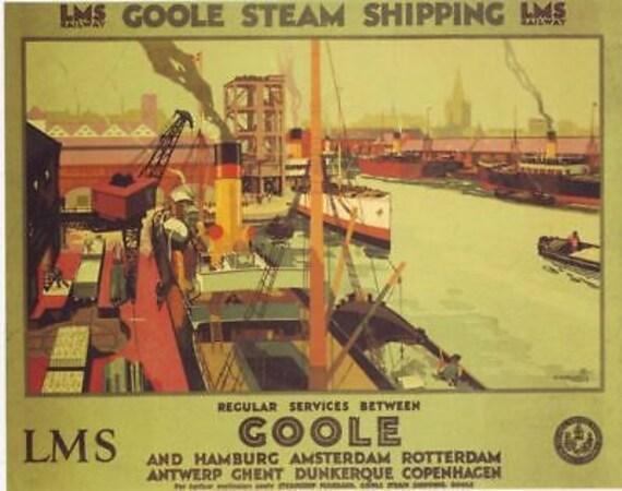 1930/'s GWR Aberystwyth Railway A3 Poster Reprint