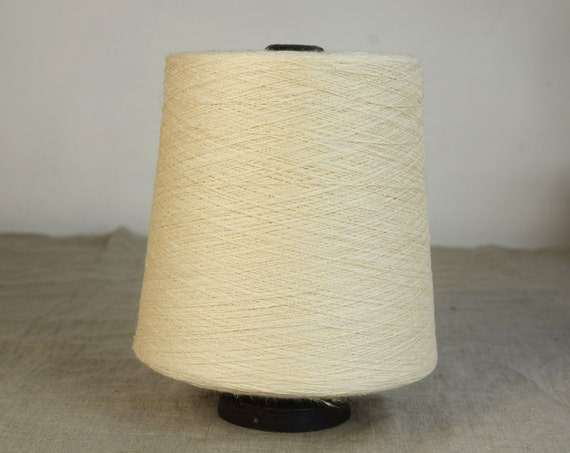 100% linen threads. Ready to ship. Beige color 4-ply.