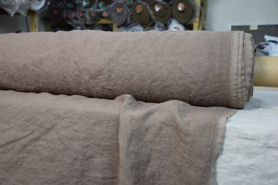 100% linen fabric Udana Cinnamon Brown 340gsm. Washed/Pre-shrunk. Eco-friendly material for upholstery, curtains, furnishing, accessories.
