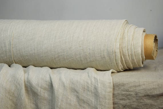 """SWATCH (sample) 12x12cm (5x5"""").  Linen fabric Pura Papyrus. Thin semi-sheer gauze. 100% linen 110gsm. Pale beige. Washed-softened."""