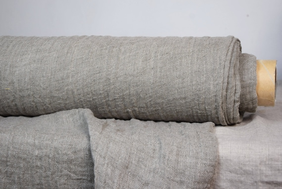 Linen fabric Pura Natural. Thin semi-sheer gauze. 100% linen 110gsm. Undyed flax. Washed-softened.
