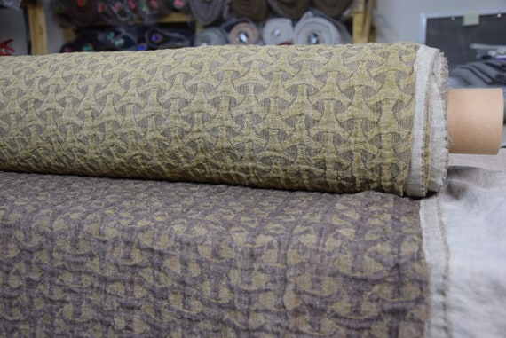 Pure linen fabric Vita Smoky Brown 220gsm. Fluffy double-faced, two sided.  Washed-softened.