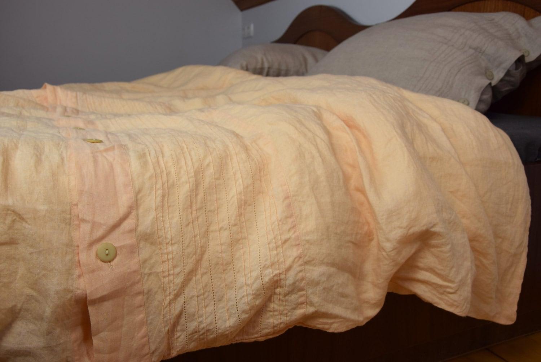 100 Linen Hemstitched Duvet Cover Midsummer Bedding Collection