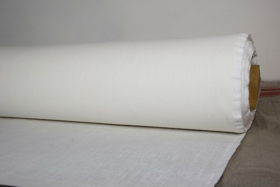 "Pure linen fabric Luna Stiff-Tex Stark White 350gsm. For window rollers and blinds. UV protected. ""Stiff-Tex"" finishing."