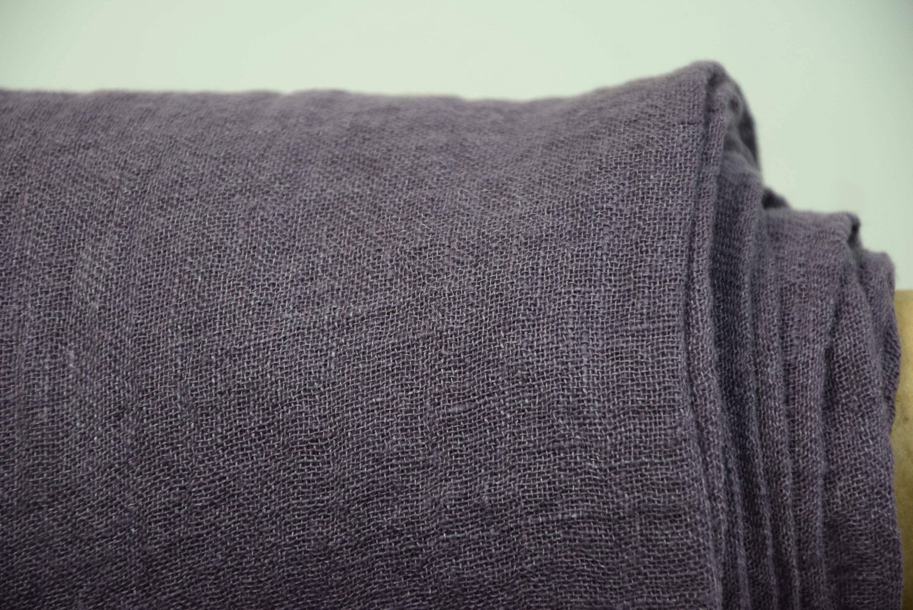 Linen Fabric Pura Catawba Grape Thin Semi Sheer Gauze
