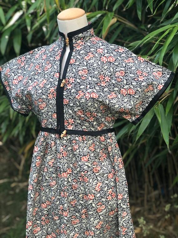 1970s cotton floral dress by Marion Donaldson