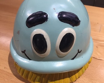 Vintage 1992 Hand Painted Scrubbing Bubbles Bank Cleaning Supplies SC Johnson/Dow Brands Ceramic