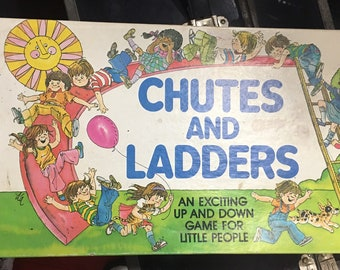 Vintage 1979 Chutes & Ladders Board Game Spinner Child Game Classic Milton Bradley