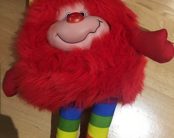 Vintage 1980s Rainbow Brite Red Romeo Sprite Character Stuffed Toy