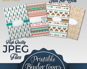 Customized and Printable Binder Covers: 4 Different Styles |3 Different Spine Sizes for Each Style