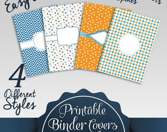 Printable Binder Covers: 4 Different Styles | Including To Do Lists for organizations |3 Different Spine Sizes for Each Style
