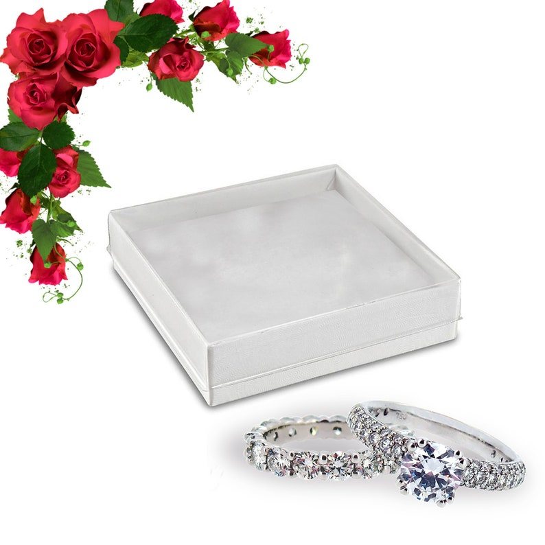Better Crafts Small Jewelry Box Gift Boxes With Lids White Clear Favor Boxes