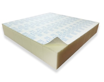 Set of 12 of VHB Double-Sided Foam Squares Adhesive 1 x 1 inch x 1/2 inch or 1 inch thick! - Permanent aggressive adhesive dots.