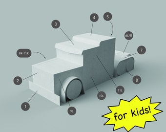 Template for Transforming Big Rig Costume for Kids Inspired by Optimus Prime Transformers Costume