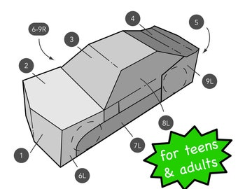 Template for Transforming Car Costume for Teens and Adults Inspired by Bumblebee Transformer Costume