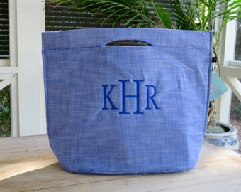 Insulated Cooler Tote with Monogram