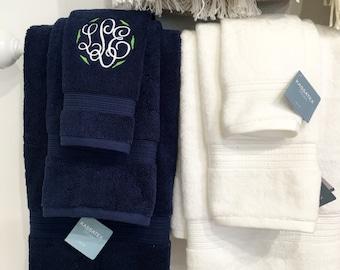 Bath Hand Towel with Monogram