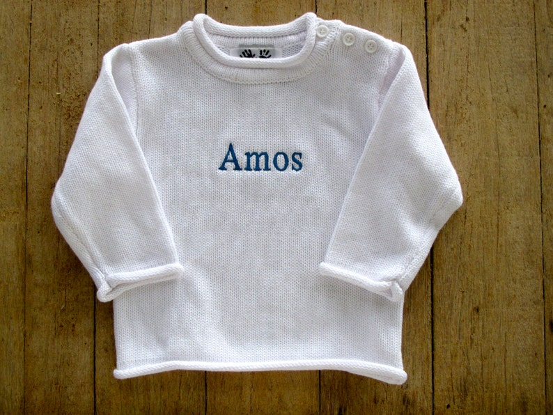 Monogrammed Baby Rollneck Sweater  Child's Sweater  image 0
