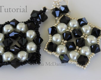 PDF tutorial beaded earrings with pearls and crystals_ easy to make
