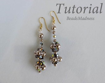PDF tutorial beaded earrings June24_seed beads_pearls_easy_pattern