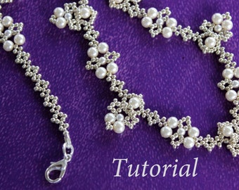 PDF tutorial beaded necklace - seed beads -beading
