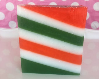 Sale! Christmas Spirit Soap - Handmade Soap - Christmas Soap - Holographic Glitter Soap - Stocking Stuffer - Holiday Soap - Holiday Bathroom