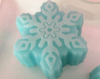 Snowflake Soap - Stocking Stuffer - Guest Soap - Christmas Soap - Holiday Soap - Winter Soap - Party Favor - Handmade Soap - Gift Idea