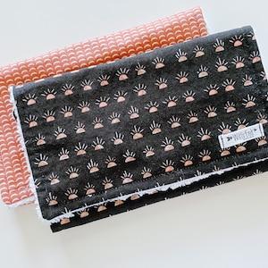 Modern Gender Neutral Burp Cloth Mix /& Match-Super Absorbent Cotton Chenille Burp Rag-WALRUS Walrus Burp Cloth
