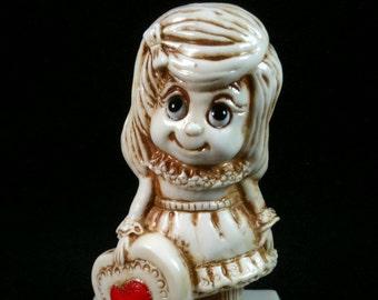 Vintage 1975 W&R Berries Co Sillisculpt Valentine Figurine, Be My Valentine, Retro 70s, Collectible Figurine, Sillisculpt Figurine
