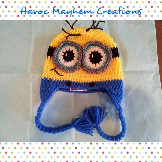 Crochet Minion Beanie  0f19d0bc9bb