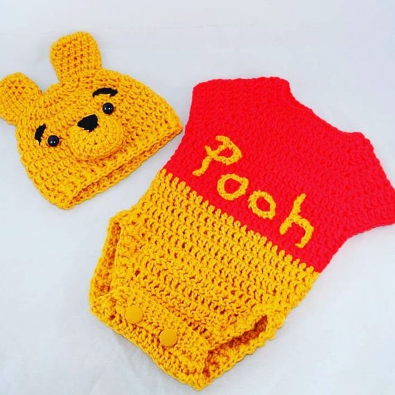 Crochet Winnie The Pooh Costume Photo Props Etsy