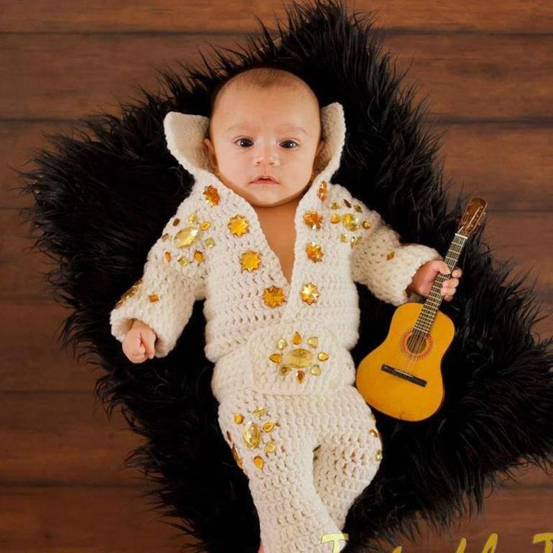 Crochet Baby Elvis Costume