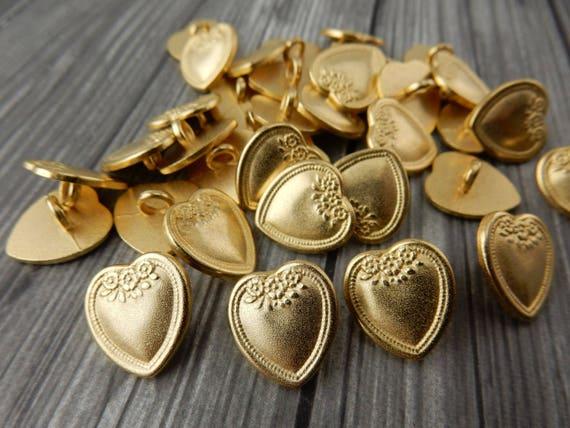 10 Stück Gemischte Metallknöpfe Bronze 17 mm Knöpfe Metall Knopf Nähen Basteln