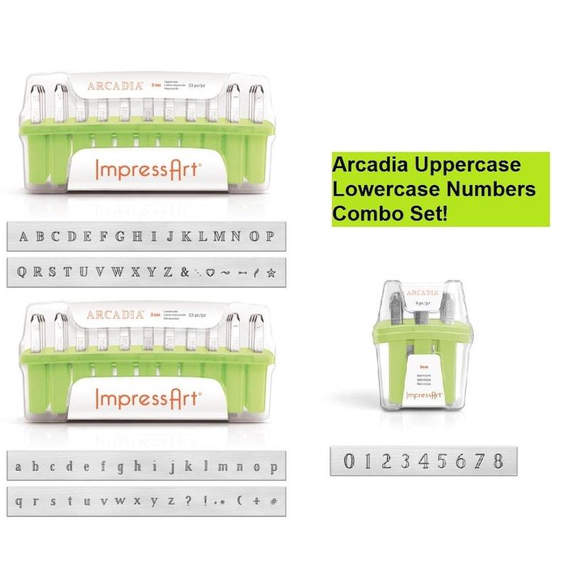 Impressart Premium Impressart Metal Stamps Buy One Give One Newsprint Numbers Metal Stamps