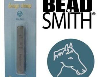 Horse Head Metal Design Stamp 6 mm Beadsmith Western Cowboy Design Stamp, Steel Stamp