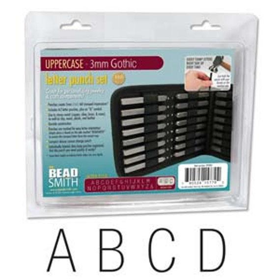 3mm Uppercase ImpressArt SC1223A-3mm Deco Letter Metal Stamps