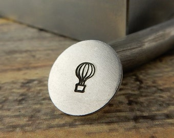 HOT AIR BALLOON Metal Stamp 6mm, Outline Design, Great Summer Stamp, Stamping Tool for diy Jewelry