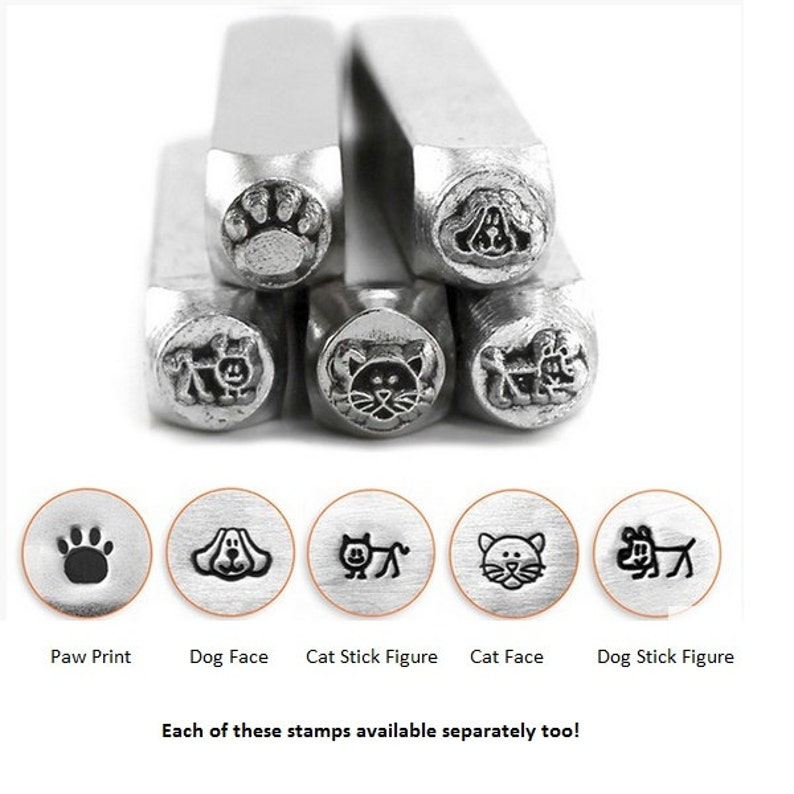 Dog And Cat Metal Stamp Kit ImpressArt Pack Design