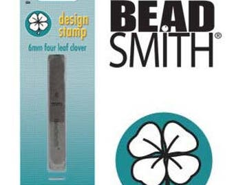FOUR LEAF CLOVER Metal Stamp 6 mm Beadsmith Metal Stamping Tool for Hand Stamping Metal Blanks, Saint Pattys Day Stamp
