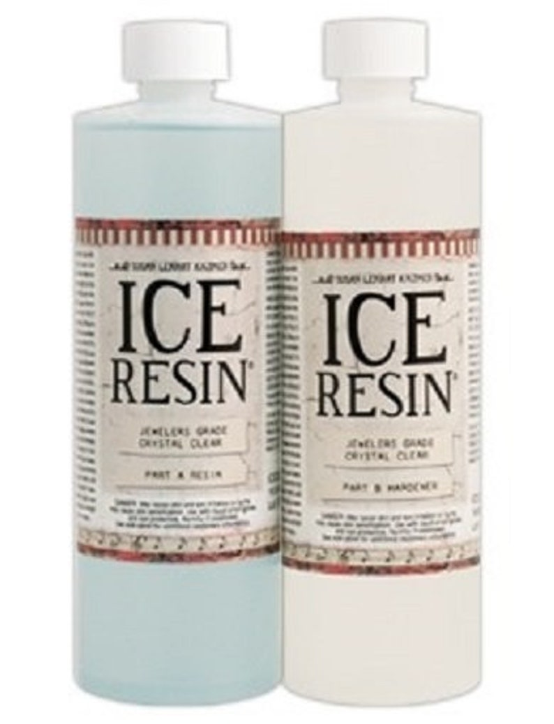 Ice Resin 32 oz Refill Kit, Jewelers Grade Self Doming Clear Epoxy Resin  For Making Mixed Media Jewelry Art Work
