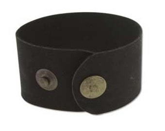 """Black Leather Cuff 1.5"""" Wide, Genuine Leather Wristband, Cuff Blank, Hand Stamping Supplies"""