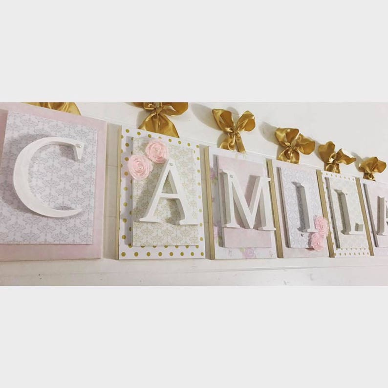 Baby Name Hanging Name Sign Baby Name Letters Nursery Wall Etsy
