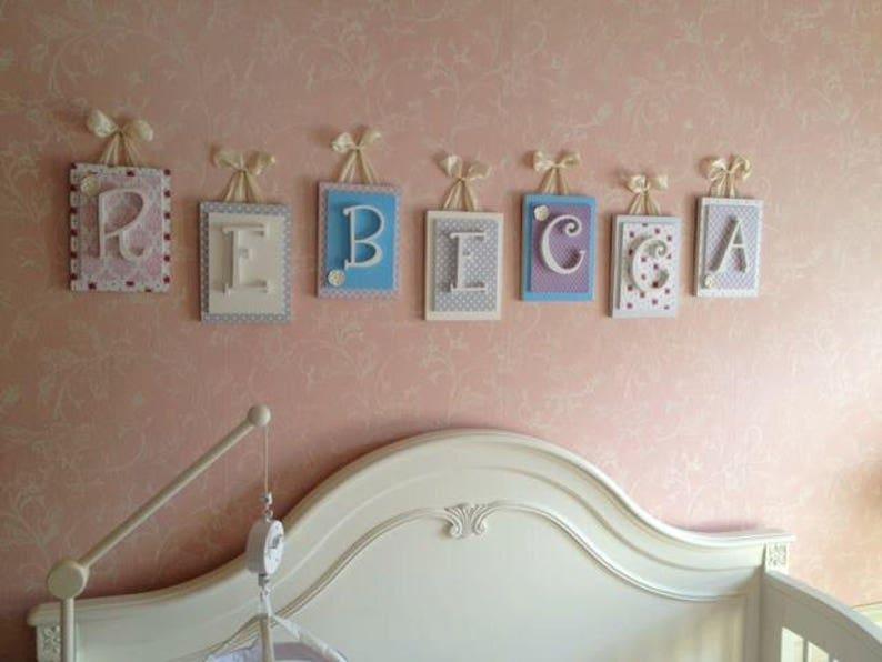 Letters for Nursery Wooden Letters for Nursery Baby Room Letters Wall Letters for Nursery Girls Nursery Wall Art Nursery Bedding