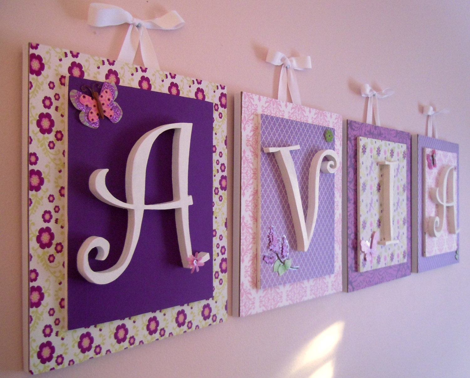 Nursery letters Lambs and Ivy Butter Fly Lane Purple | Etsy