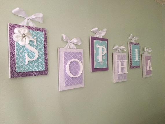 Lila Kinderzimmer Dekor Kinderzimmer Wand Buchstaben Madchen Etsy
