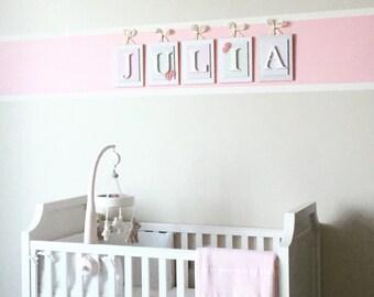 Nursery Letters,Girls Nursery Letters, Pink Wall Letters, Hanging Wood Letters, Wall Letters, Girl Wall Letters,Hanging Letters, Nursery Art
