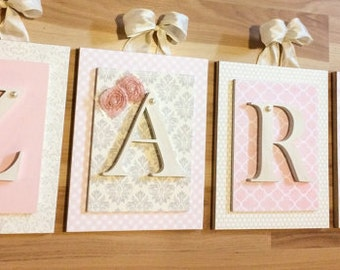 Nursery letters, Personalized Letters,Hanging Wall Letters,Wood letters for Nursery,Custom Nursery Letters,Nursery Wall Letters,Glenna Jean