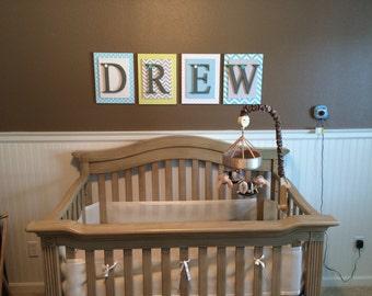 Nursery letters, Boys Nursery Letters, Boys Wooden Letters, Bedroom Letters, Hanging Wall Letters, Custom Letters, Personalized Letters,